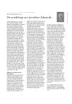 De prediking van Jonathan Edwards
